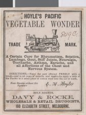 Hoyle's Pacific Vegetable Wonder - Patent Medicine
