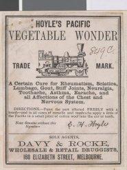 Hoyle's Pacific Vegetable Wonder - Patent Medicine