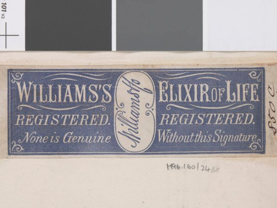 Patent medicine - William's Elixer