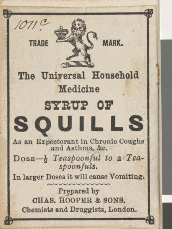 Syrup of Squills - Opiate based patent medicine