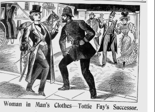 Illustrated police News 1896 September 5 Woman Dressed as a Man